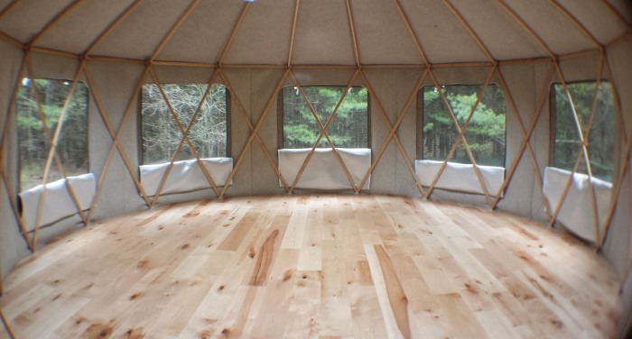 yurt - interior all windows open