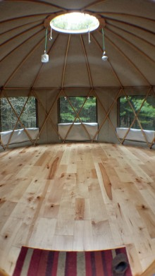 yurt - interior upright